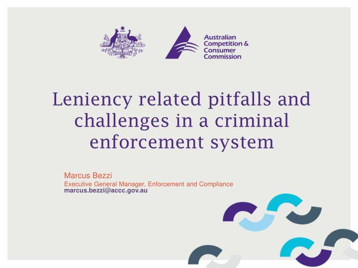 leniency related pitfalls and challenges in a criminal enforcement system n.