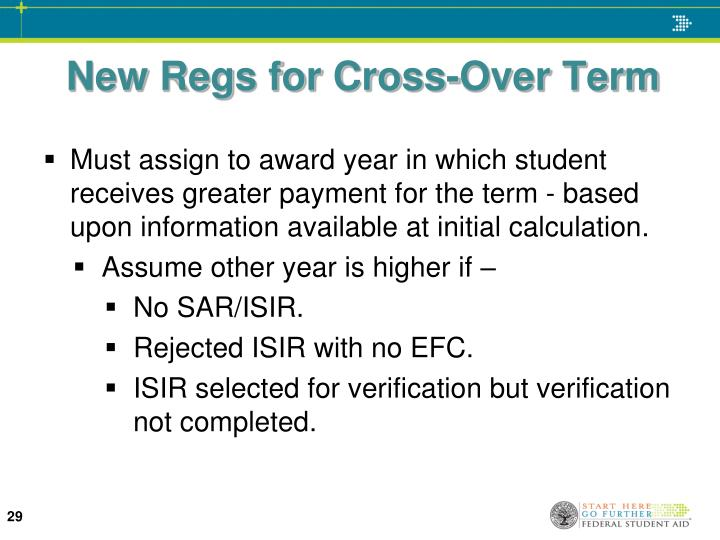 New Regs for Cross-Over Term