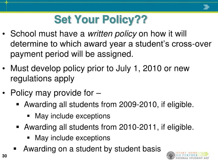 Set Your Policy??