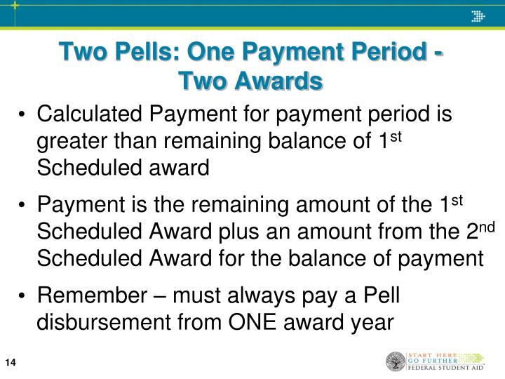 Two Pells: One Payment Period -