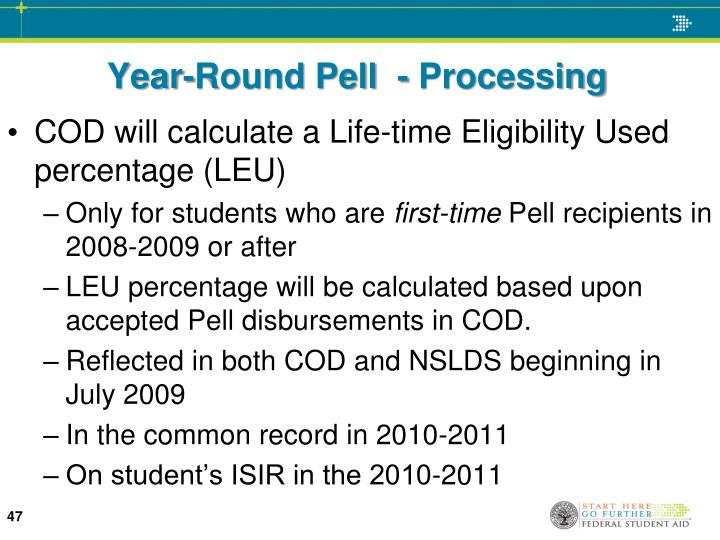 Year-Round Pell  - Processing