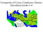 conquests of cyrus cambyses darius herodotus books 1 4