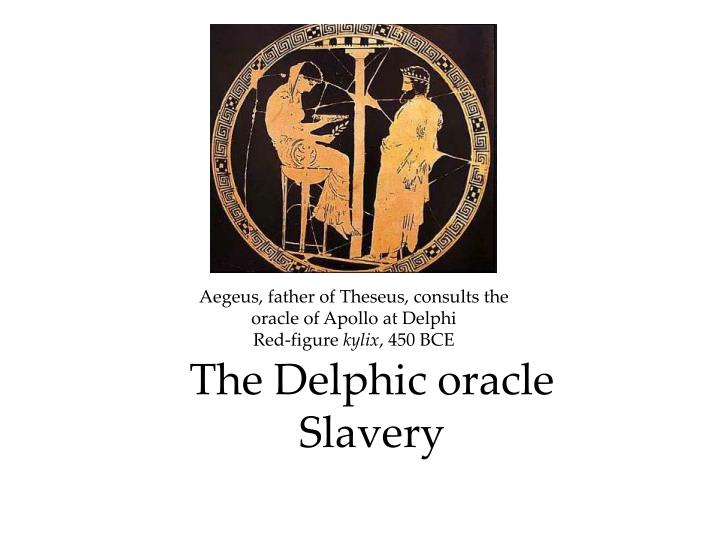 the delphic oracle slavery n.