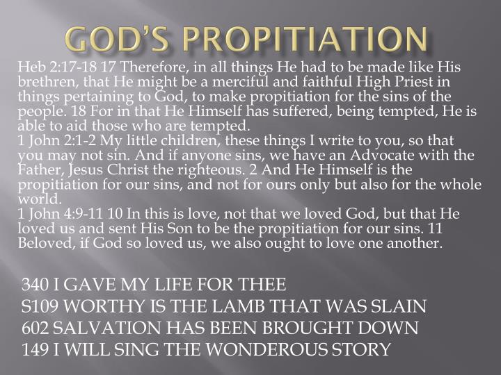God s propitiation