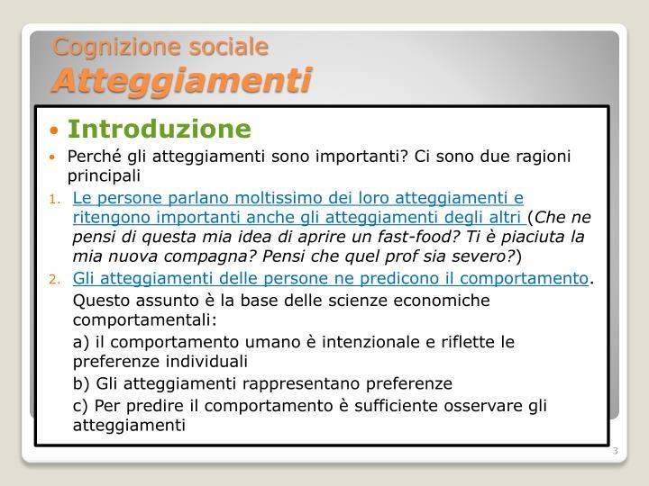 Cognizione sociale atteggiamenti2
