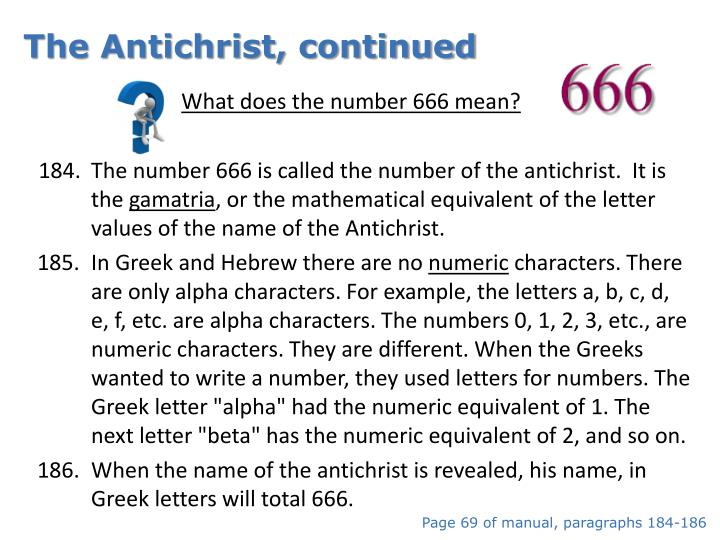 The Antichrist, continued