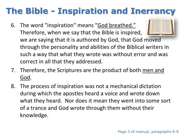 The Bible - Inspiration and Inerrancy