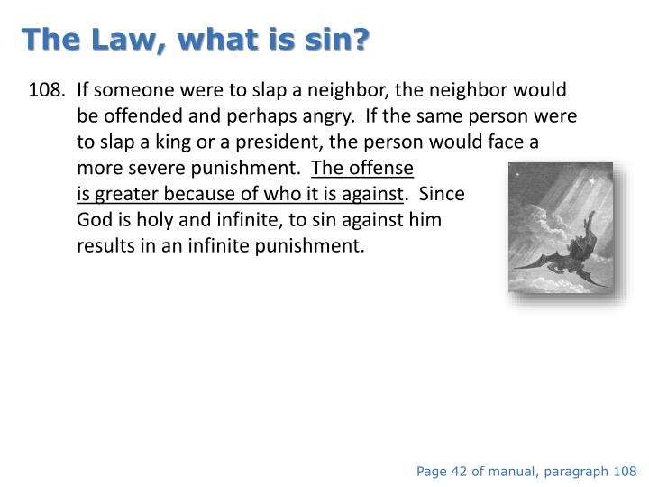 The Law, what is sin?
