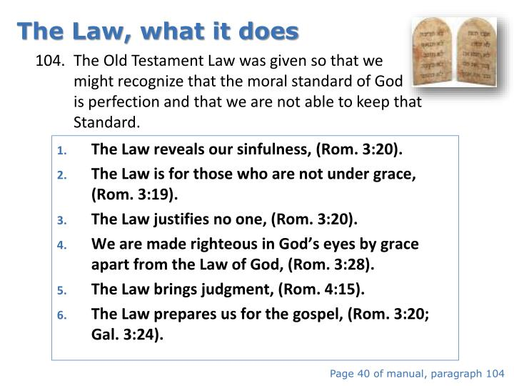 The Law, what it does