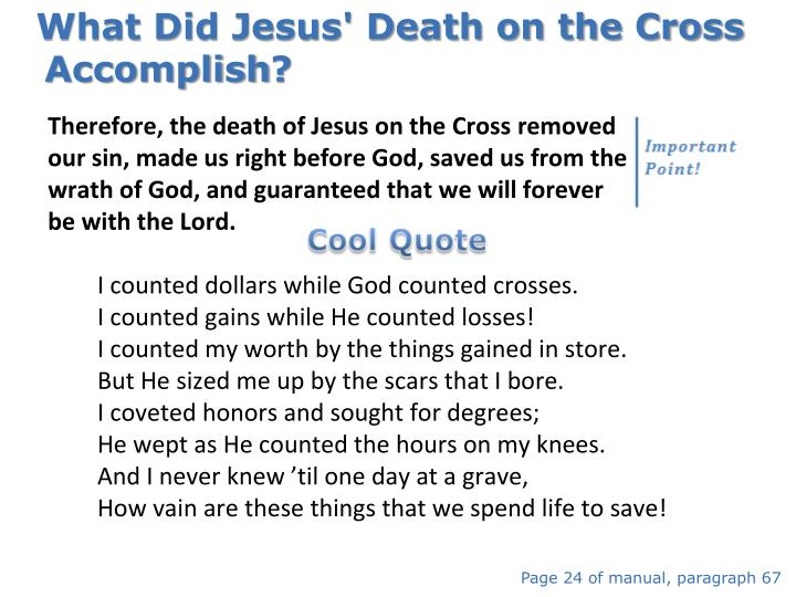 What Did Jesus' Death on the Cross