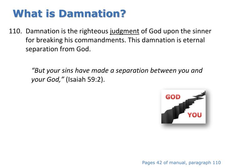 What is Damnation?