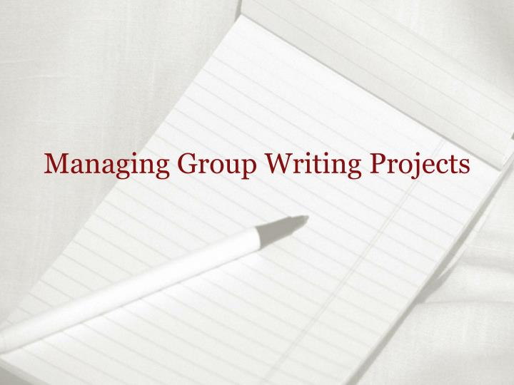 Managing group writing projects