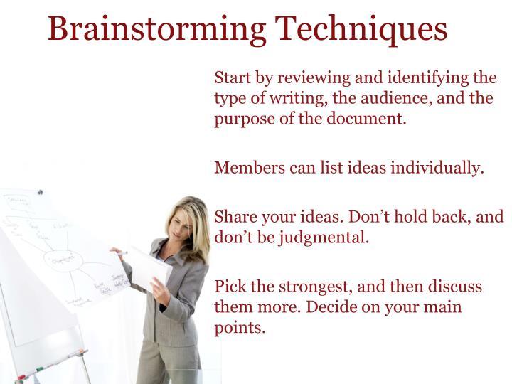 Brainstorming Techniques