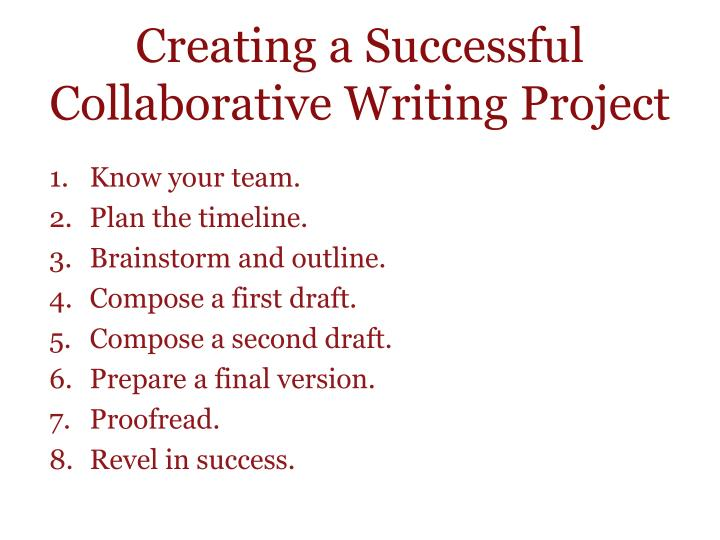 Creating a Successful Collaborative Writing Project
