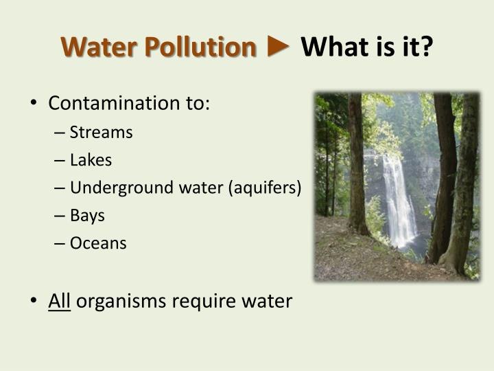 Water Pollution ►