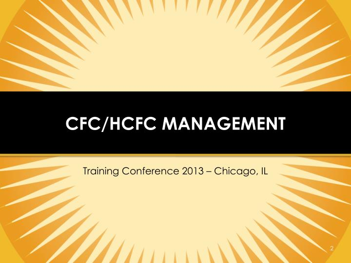 Cfc hcfc management