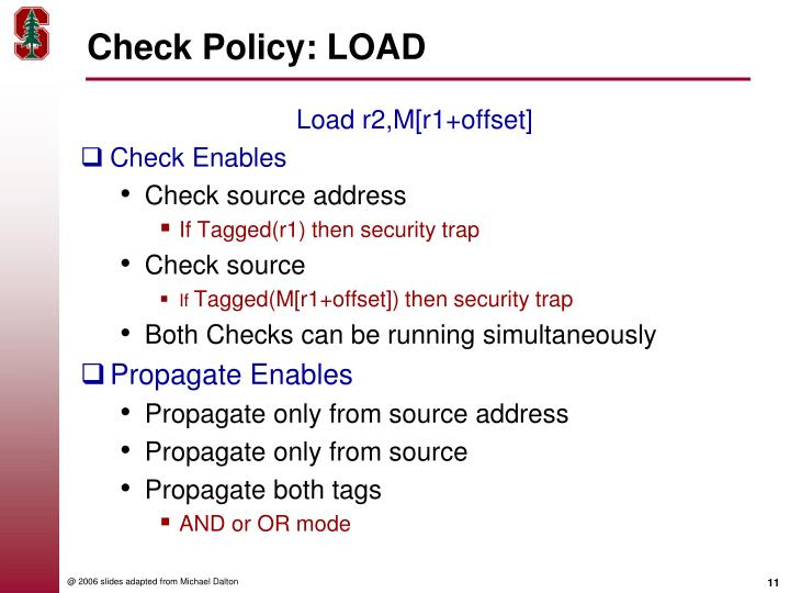 Check Policy: LOAD
