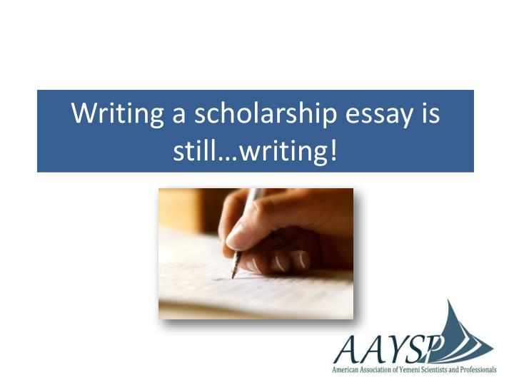 show me a scholarship essay Scholarship essay throughout my childhood, many individuals posed that infamous question: so, what are you going to be when you grow up i cringe even now as i write it during my childhood, the answer came quickly and with assurance: a doctor.