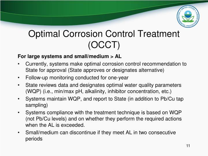 Optimal Corrosion Control Treatment (OCCT)