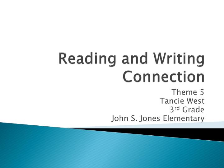 reading and writing connection n.