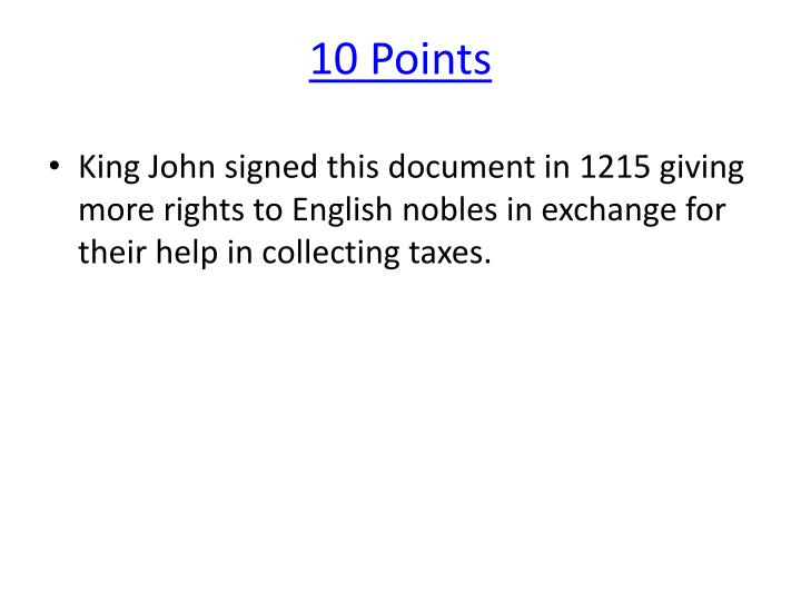 10 Points