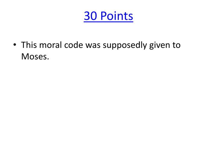 30 Points