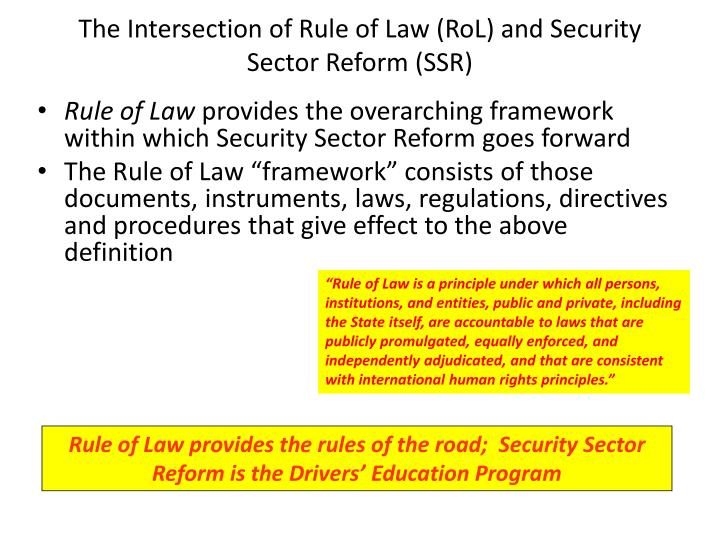 The Intersection of Rule of Law (