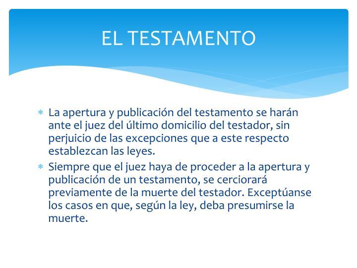 EL TESTAMENTO