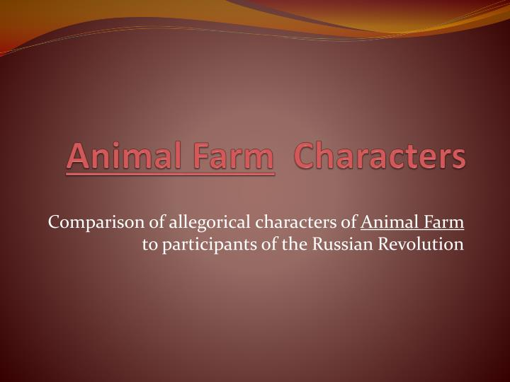 animal farm vs russian revolution essay My essay will cover the comparison between animal farm and the russian revolution also it will explain why this novel is a satire and allegory to the animal farm in relation to the russian revolution animal farm in comparison to the russian revolution animal farm is a satire on the russian revolution.