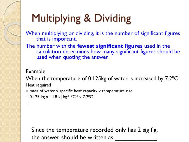 Multiplying & Dividing