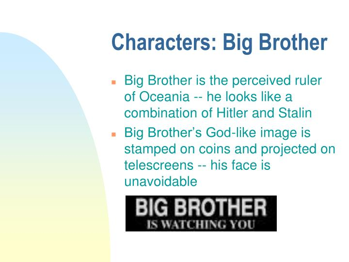 hitler and big brother essay example Essays nineteen eighty-four and people such as hitler and joseph stalin are examples of such hate and their hatred for big brother in order to bring.