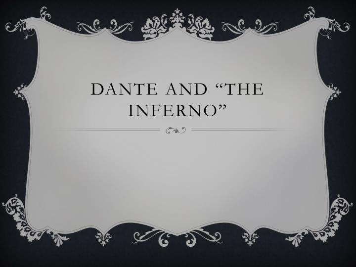 dante and the inferno n.