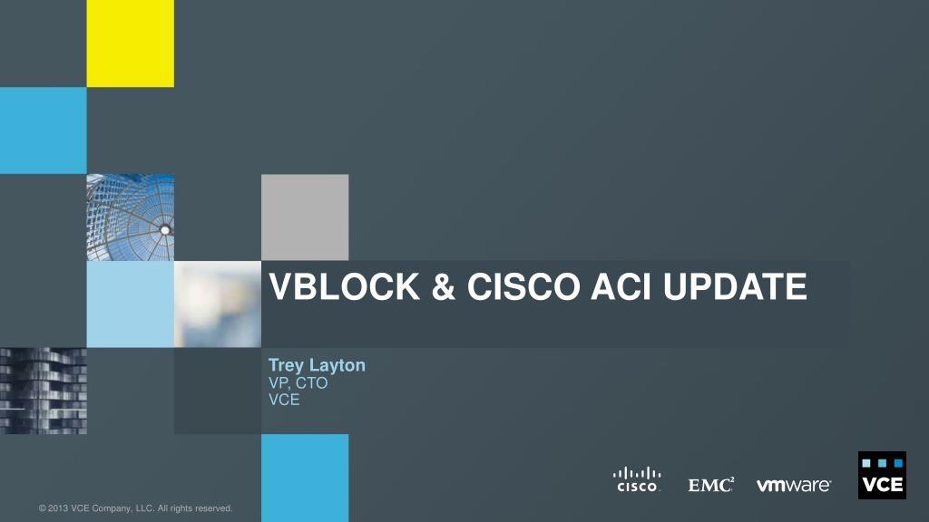 Ppt Vblock Cisco Aci Update Powerpoint Presentation Id1902342