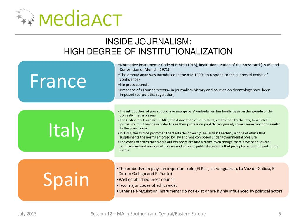 PPT - Media Accountability in Southern and Central/Eastern