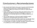 conclusiones y recomendaciones1