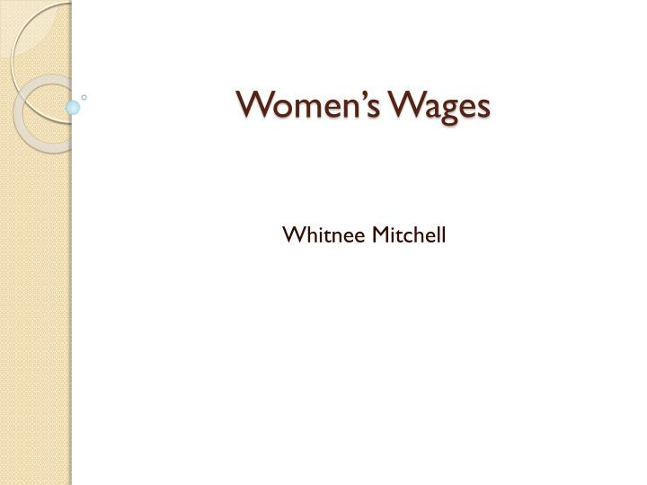 women s wages n.