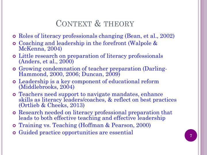 Context & theory