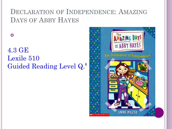 Declaration of Independence: Amazing Days of Abby Hayes