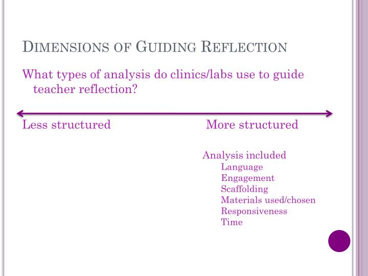 Dimensions of Guiding Reflection