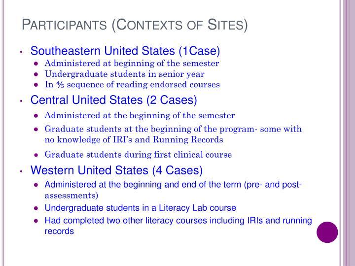 Participants (Contexts of Sites)