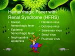 hemorrhagic fever with renal syndrome hfrs