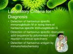 laboratory criteria for diagnosis