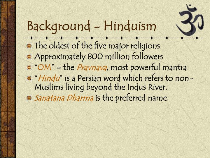 Background hinduism