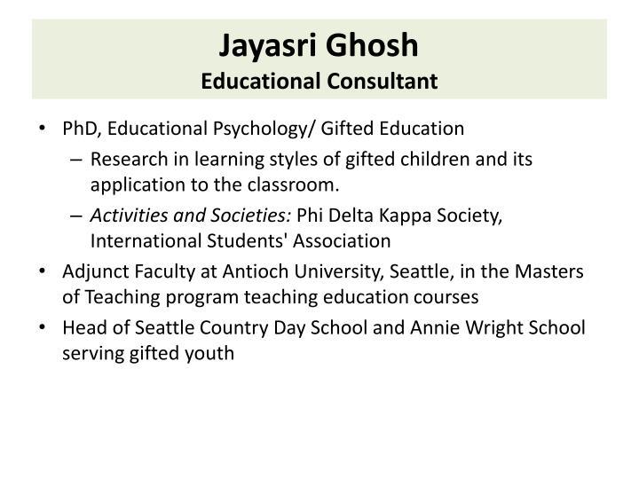 Jayasri Ghosh