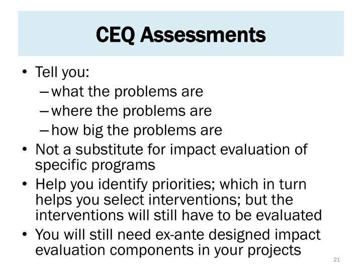 CEQ Assessments