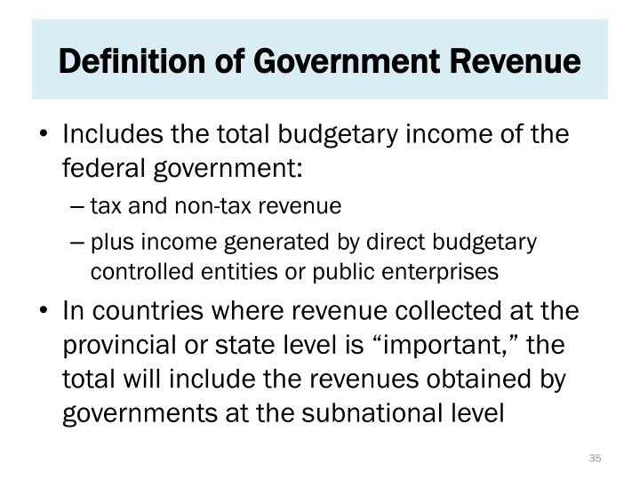 Definition of Government Revenue