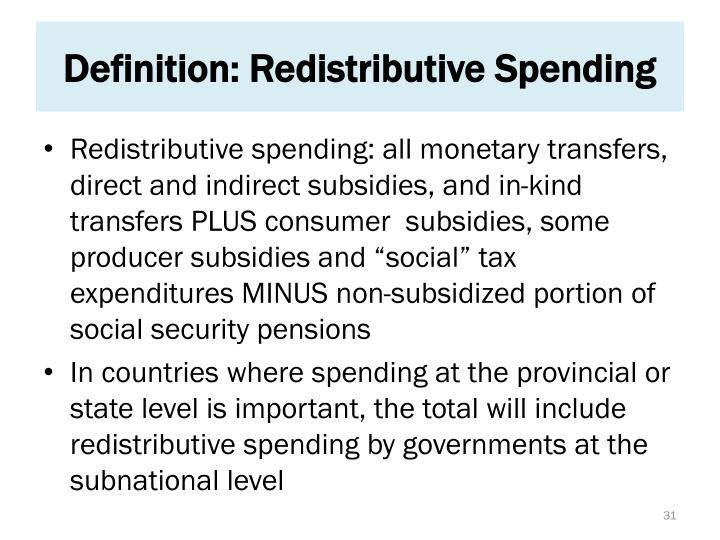 Definition: Redistributive Spending