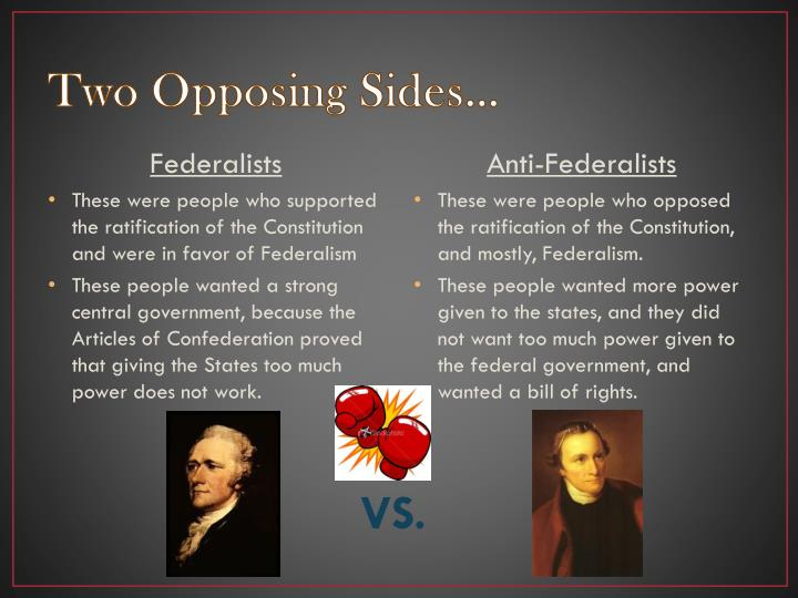 Two Opposing Sides…