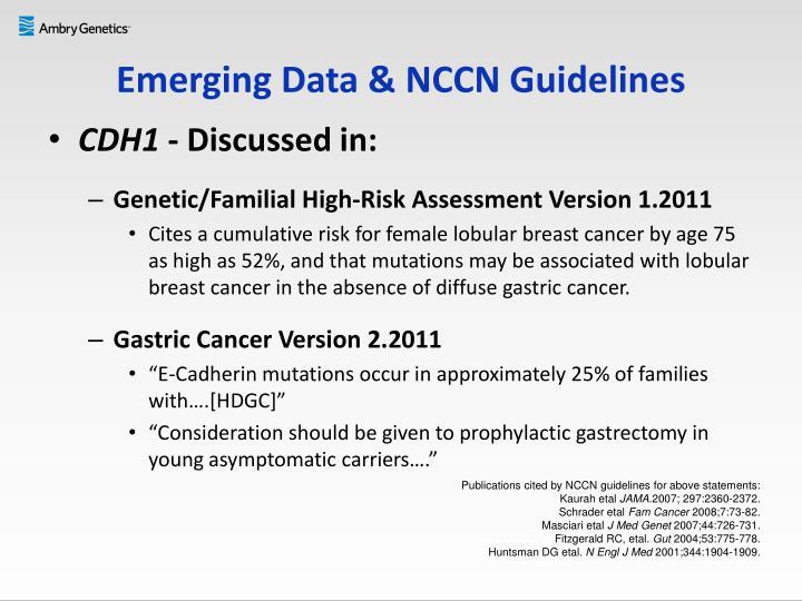 Emerging Data & NCCN Guidelines