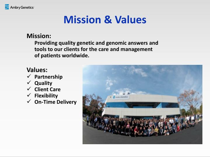 Mission & Values
